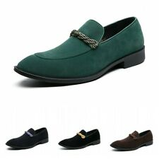 Oxfords hombres falsos ante slip on Pointed Toe Wedding Wedding Shoes Business Formal L