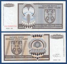 Croatia/krajina 5.000.000 dinara 1993 UNC p. r11