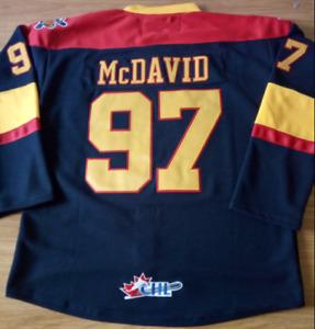 Erie Otters Navy Connor McDavid Jersey M, L, XL, XXL