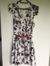 Black and White dress with red dress from TEMT size 8