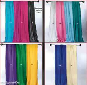 Fabric Sparkle Drapes Swags Tails Curtain Table Chair Overlay Wrap Party Wedding