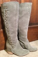 NWT-GIANNI BINI OLIVE GREEN SUEDE & LEATHER KNEE HIGH BOOTS 6.5-Retail $159