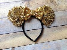 Disney World Mickey Mouse Ears headband- Disneyland-GOLD-Epcot-new -handmade