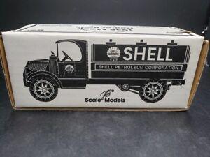 1935 Mack Tanker Locking Bank Die-Cast Model by Ertl with Shell Gasoline Logo