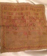 Antique ,Needle Work Childs Sampler,42 X 31Cm,Antique Item,Dated 1821,Named