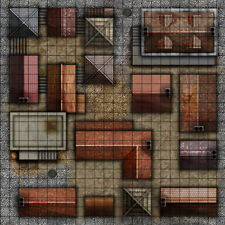 2'x2' PVC Roleplay RPG incontrano Tappetino ideale per Dungeons and Dragons 1 pollici Griglia