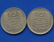 1947 &1949 France 10 Franc Coins
