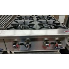 "NEW 24""  4 BURNER HEAVY DUTY COMMERCIAL COUNTER TOP GAS HOT PLATE  NAT / LP  GAS"