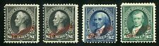 United States Philippines Administration Scott#223/25 With Both $1 Types Mint