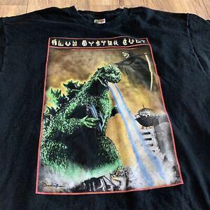 Vintage Blue Oyster Cult Godzilla Tour T-Shirt Size Men's 2XL XXL