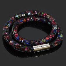 Bracelet collier pourssiere d'étoile Swarovski®Elements résine multicolore