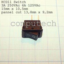 INTERRUTTORE RETTANGOLARE ON/OFF 250VAc 3A 2 Pin Min Rocker Switch KCD11