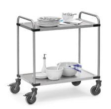 fetra® Edelstahlwagen Bürowagen Servierwagen 120kg Rollwagen Servicewagen