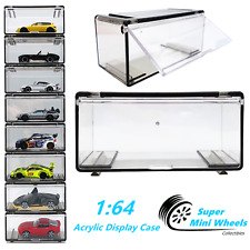 1:64 Acrylic Display Case For Diecast Model Car - Hot Wheels,Matchbox,Greenlight