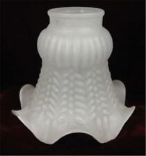 Vintage Lamp Shade Frosted Glass Ruffled Base #1