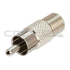 F Type Female to RCA Male Connector Coupler Coax Cable Adapter Video