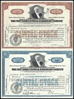 Lot of 2: 1930s & 1940s New York Central Railroad Stock Certificates, Vanderbilt