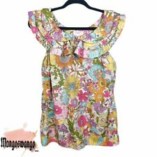 Liberty of London for Target Floral Ruffle Blouse Women's Size Large
