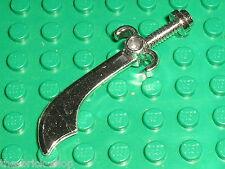 Sabre LEGO PIRATES MINIFIG ChromeSilver Sword Scimitar ref 43887 / Set 7070 7074