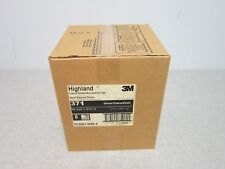 "Six Roll Case of 3M 371 Box Sealing Tape, 1.89"" x 999.55 Yd, 2"" Machine Length"
