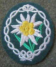 WWII GERMAN HEER ARMY NCO GERBIRGSJAGER MOUNTAINEER Patch-BOTTLE GREEN