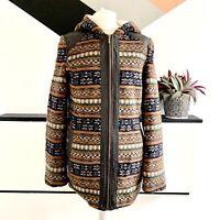 TOPSHOP COATIGAN cardigan Size 10 Fleece     Smart Casual Warm Hooded Warm