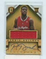 REGGIE BULLOCK 2013-14 Panini Gold Standard Rookie Jersey Auto Autograph #D 239