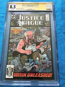 Justice League (1987) #22 -DC - CGC SS 8.5 -Signed by Maguire, Giffen, DeMatteis