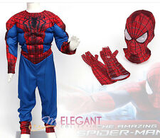 Disney Marvel Spider-Man 2 Muscle Deluxe Boys Kids Halloween Costume L 7-8 Years