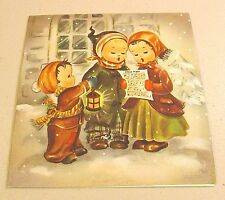 VINTAGE USED CHRISTMAS CARD NATIONAL DETROIT #---SO CUTE!