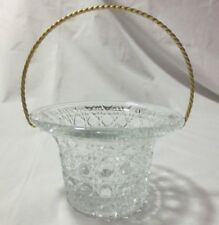Avon Fostoria Candlelight Basket With Box