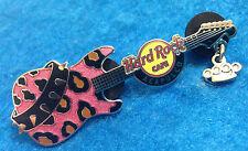 ACAPULCO PUNK ROCK SILVER GUITAR SERIES PINK LEOPARD SKIN Hard Rock Cafe PIN LE