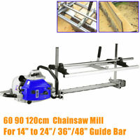 Fit 14''-24''/36'/48'' Chainsaw Guide Bar Chain Saw Mill Planking Lumber