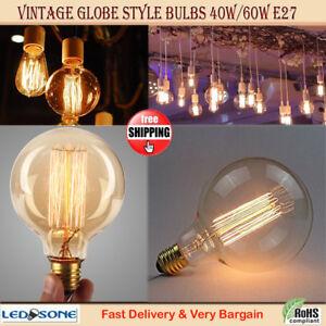 60W Filament Light Bulbs Edison Globe Squirrel Cage Vintage Decorative Lighting