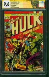 Hulk 181 CGC SS 9.6 Stan Lee Wein Trimpe Romita 4 Signed 1999 German Edition