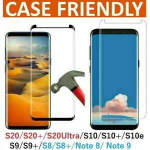 Screen Protector For Samsung Galaxy S10 S10e S10+ S20+ Full Cover Tempered Glass