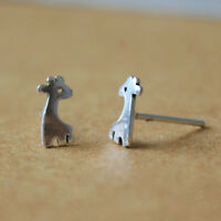 925 Silver Tiny Giraffe Stud Earrings, Giraffe Earrings, Giraffe Jewelry, Animal