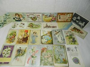 lot 23 Easter POSTCARDS Bunny Rabbit Children Eggs etc. Holiday Greeting