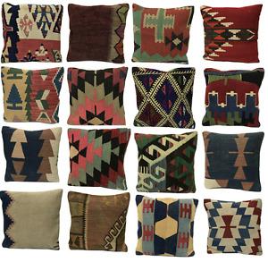 Luxury Wool Turkish Moroccan Colourful Pure Kilim Beautiful Cushion Cover