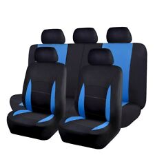 Car Seat Covers Full Set | Rear Bench Cover with 3 Zippers | Polyester 5 Colors