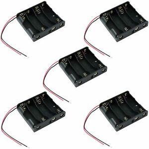 5 x 4 AA Battery Holder Custodia Box W/ 150mm Wire Leads