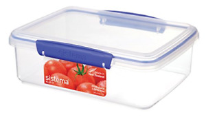 Sistema 1700 Klip It Collection Rectangle Food Storage Container, 2 Liter/67.6 O