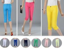 AU SELLER Casual Womens Candy Coloured Skinny 3/4 Jeans Denim Pencil pants p050