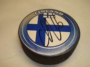 Aleksander Barkov Signed Team Finland Hockey Puck Autographed 1A