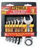 KC TOOLS Ratchet Spanner Set 7 Piece SAE/AF Gear Ratcheting A13760