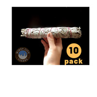"CALIFORNIA WHITE  Sage  Smudge Stick  Herb 10 BUNDLES 8-9 "" (FREE expedite ship)"