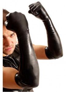 Rubber Latex elbow gloves gay fetish interest