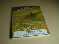 CHRISTIE`S Auktionskatalog British Drawings and Watercolors 24. November 1998.