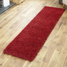 SHAGGY RED 60x230cm RUNNER RUG 5cm THICK NON SHED BEST QUALITY RUNNER DOOR MATS