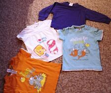 4-teil.Shirt-Paket,Sommer,Gr86,v.Baby-Club,to ca pi,orange,lila,weiß,türkis,top